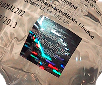 Medical Brand Protection Hologram Label