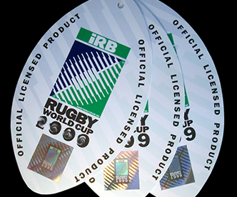 Rugby Merchandise Tag with Hologram