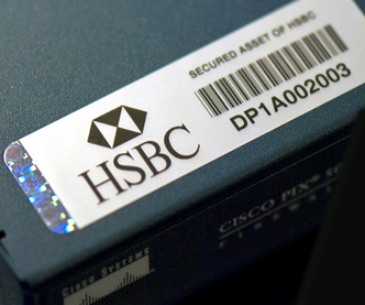 Photo of HSBC Asset Tag on Firewall Router
